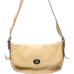Coach Beige Leather Shoulder Bag 219340