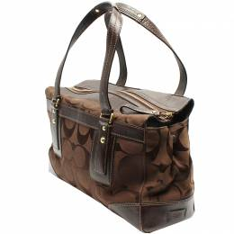 Coach Brown Signature Canvas And Leather Everyday Bag 219377