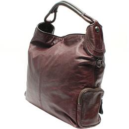 Coach Dark Purple Leather Shoulder Bag 219378
