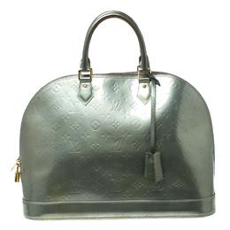 Louis Vuitton Light Green Monogram Vernis Alma GM Bag 217274