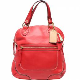 Coach Red Leather Double Handle Bag 219417