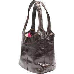 Coach Brown Patent Leather Shoulder Bag 219368