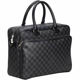 Louis Vuitton Black/Gray Damier Graphite Laptop Bag 214845