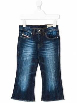 Diesel Kids - frayed bootcut jeans 3S5KXA53936568500000