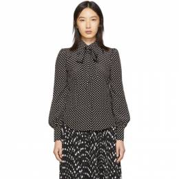 Marc Jacobs Black The Blouse Shirt 192190F10700304GB
