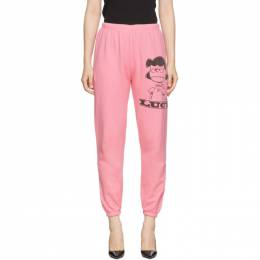 Marc Jacobs Pink Peanuts Edition The Gym Lucy Lounge Pants 192190F08600302GB