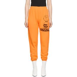 Marc Jacobs Orange Peanuts Edition The Gym Charlie Lounge Pants 192190F08600203GB