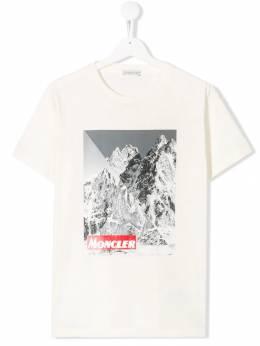 Moncler Kids - футболка с графичным принтом 85568369095336395000