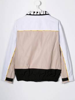 Fendi Kids - легкая куртка на молнии со вставками 909A69A9355635500000