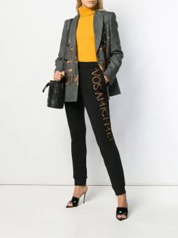 Moschino - contrast double-breasted blazer 09559595036836000000