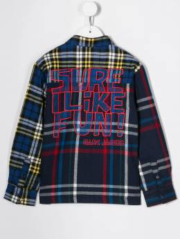 Little Marc Jacobs - check print patchwork shirt 56995395896000000000