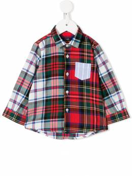 Il Gufo - long sleeved checked shirt CL965C39699535938000