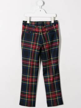Dolce & Gabbana Kids - plaid fitted trousers P96FQMG9953839830000