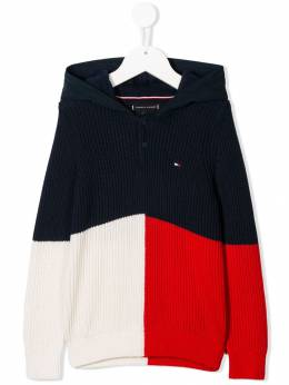 Tommy Hilfiger Junior - color-block knitted hoodie KB650899535936500000