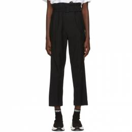 Mm6 Maison Margiela Black Belted Trousers 192188F08701005GB