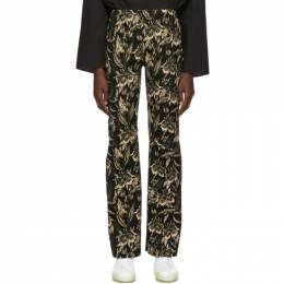 Mm6 Maison Margiela Green and Brown Jacquard Trousers 192188F08701504GB