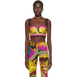 Versace Multicolor Baroque Lace Bra 192404F07300203GB