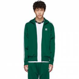 Adidas Originals Green Firebird Zip-Up Sweater 192751M20204005GB