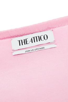 Розовая сумка с декором Attico 1869146198