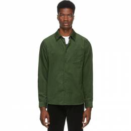 A.P.C. Green Serge Shirt 192252M19200404GB