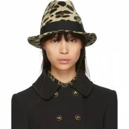 Dolce&Gabbana Brown and Tan Leopard Print Hat 192003F01500103GB