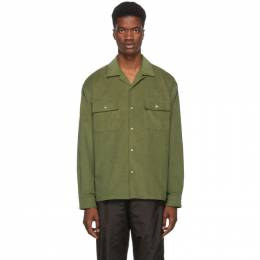 John Elliott Green Corduroy Snap Shirt 192761M19200404GB