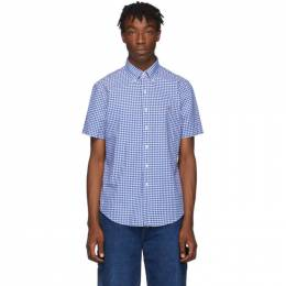 Polo Ralph Lauren Blue and White Check Oxford Shirt 192213M19200901GB