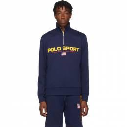Polo Ralph Lauren Navy Fleece Polo Sport Half-Zip Sweatshirt 192213M20200903GB