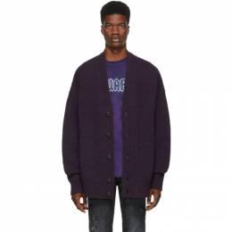 Dsquared2 Purple Melange Cardigan 192148M20000104GB
