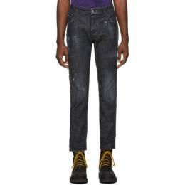 Dsquared2 Black Distressed Skater Jeans 192148M18601103GB