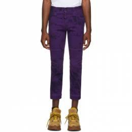 Dsquared2 Purple Tie and Dye Ski Biker Jeans 192148M18600802GB