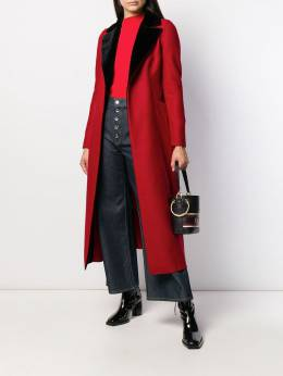 Harris Wharf London - flared longline coat 93MLKV95335608000000