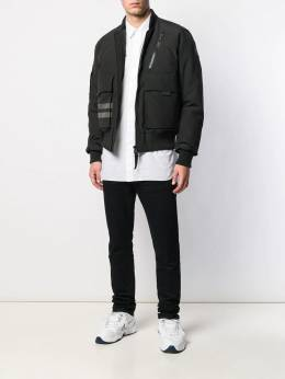 Canada Goose - striped bomber jacket 999MB399553563000000