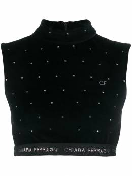 Chiara Ferragni - logo cropped sweater top ICFTP663955966650000