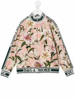Dolce & Gabbana Kids куртка-бомбер с принтом L5JW0MFSGQW
