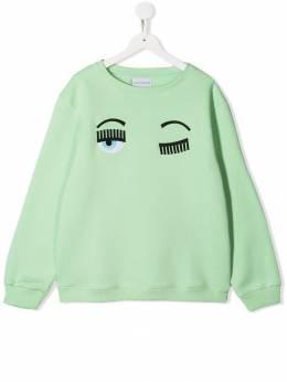 Chiara Ferragni Kids толстовка с вышивкой Flirting CFKF014