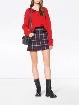 Miu Miu - checked a-line skirt 0699TYZ9538096900000