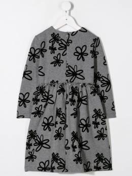 Il Gufo - flock floral print dress VL350M56969556935300