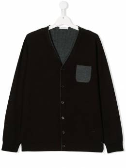 Paolo Pecora Kids - TEEN two tone knitted cardigan 90095399095000000000