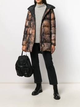 Mr & Mrs Italy - printed puffer coat XDJ69939533533500000