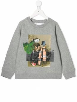 Burberry Kids - collage print sweatshirt 38599539363500000000