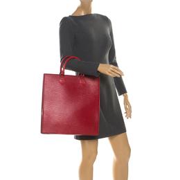 Louis Vuitton Red Epi Leather Sac Plat PM Bag 218059