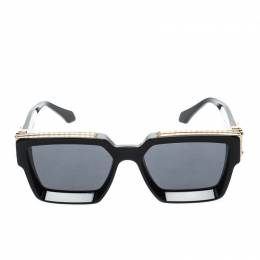 Louis Vuitton Black Z1165W 1.1 Millionaires Square Sunglasses 221281
