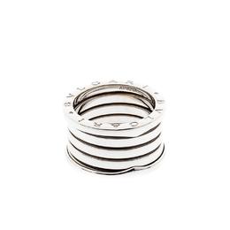 Bvlgari B.Zero1 18k White Gold  5-Band Ring Size 55 221255