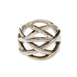 Tiffany & Co Celtic Knot Silver Band Ring Size 51 Tiffany & Co. 220777