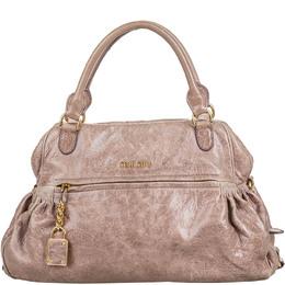 Miu Miu Pink Lambskin Leather Shoulder Bag 215561