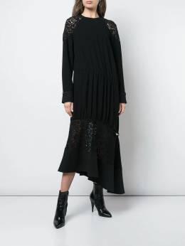 Tibi - платье с кружевными вставками 9GL93659389698300000