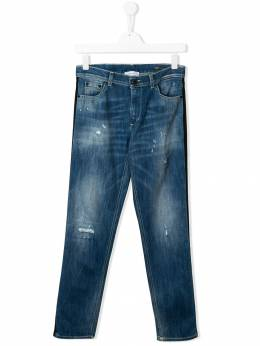 Dondup Kids - TEEN piped distressed jeans 06FDS6963Z3395509989