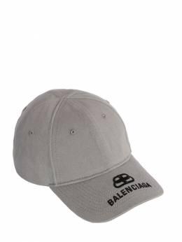Bb Embroidered Logo Cotton Baseball Hat Balenciaga 70IWD2053-MTQ2MA2