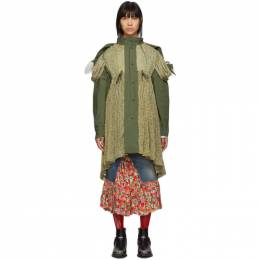 Junya Watanabe Reversible Green Flower Parka 192253F05900102GB